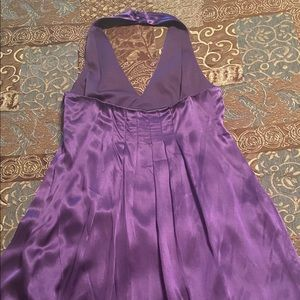 Beautiful Purple Silky Dress